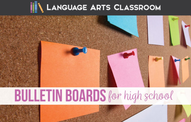 Bulletin boards for high school can be purposeful & simple. Bulletin board ideas for high school English teachers should be easy to make & appropriate for teenagers. Language arts bulletin board ideas can include word walls, First Chapter Friday picks, & writing ideas. Language arts bulletin boards can be student created. ELA bulletin boards have endless possibilities.