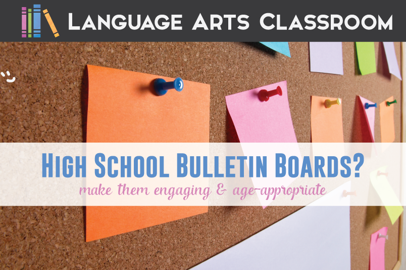 English Language Arts Classroom Decorations ~ Bulletin boards for high school students language arts