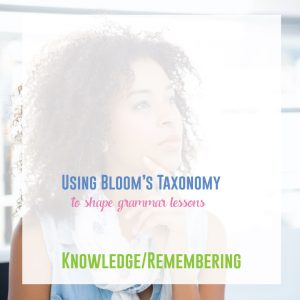 Using Bloom's Taxonomy to boost your grammar lessons will improve instruction and gain you strides in your students' connection of grammar to writing.