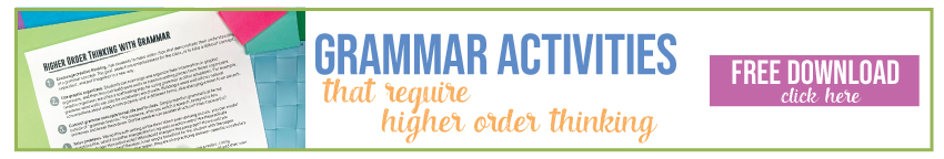 This free grammar download will help with grammar lessons and grammar worksheets.