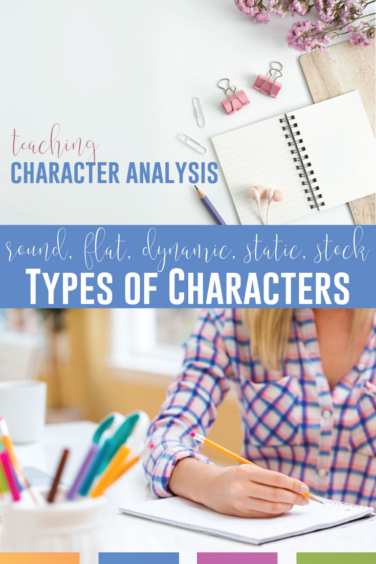 Teaching character arc leads to teaching types of characters like round, flat, dynamic, static, & stock characters. Add methods for teaching character analysis to your literature lessons. Teaching character change can also lead to literary analysis essays where secondary ELA students explore character arcs from a novel study or short story unit. Teaching character change with multiple approaches will engage reluctant readers, especially once you bring pop culture to your secondary ELA lessons.
