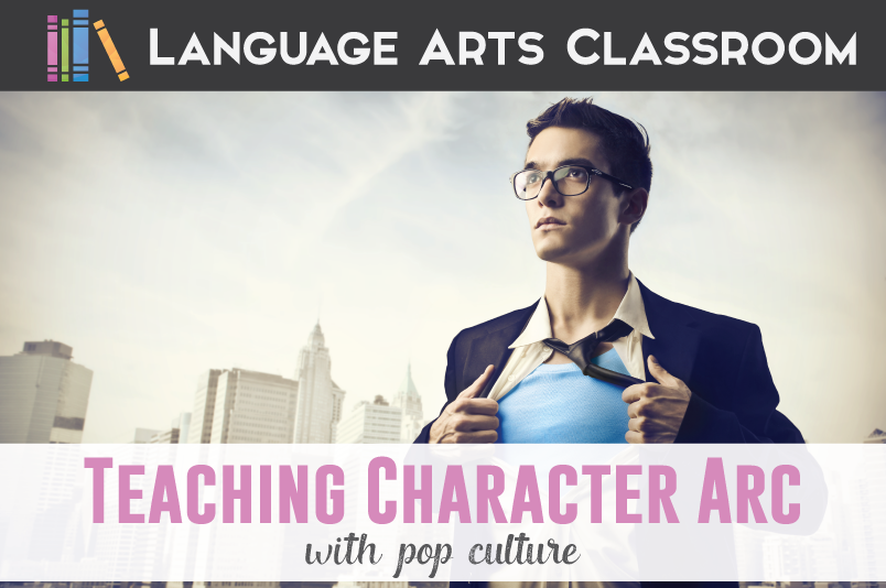 Teaching character arc with your students? Help it relate to them with characters they already love. Teach this literary device with references from pop culture - here is how.