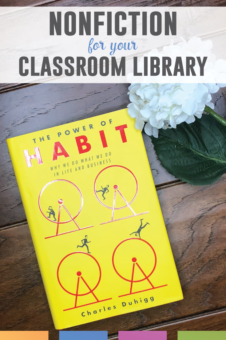 The Power of Habit book review: this nonfiction will work well in your high school classroom library.