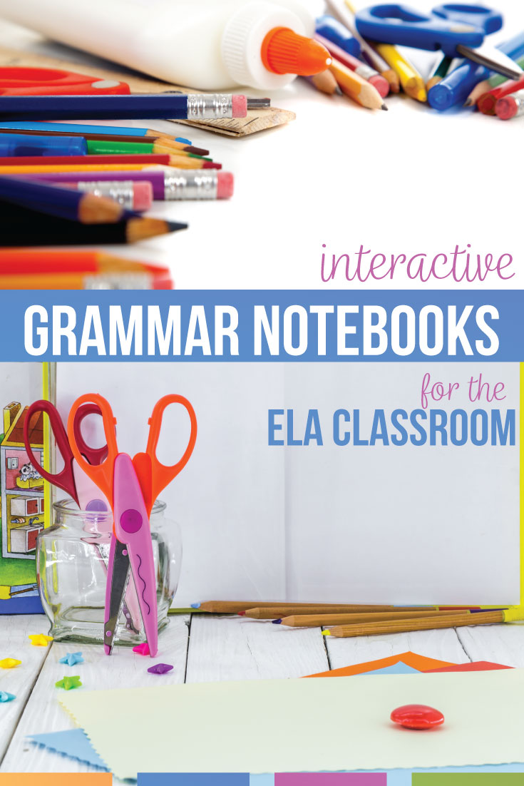 Interactive grammar notebook fun for middle school grammar? This grammar interactive notebook idea post has free grammar activities. Looking for parts of speech interactive notebook pieces? Add these grammar lessons to your sixth grade & fifth grade language arts classes. An interactive grammar notebook provides grammar review & grammar lessons. Make the grammar interactive notbeook part of middle school English classroom. Teach parts of speech and parts of a sentence with interactive notebooks.