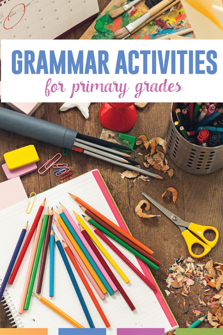Looking for elementary grammar activities? Young students can pick up grammar quickly, and engaging activities will only encourage their interests. #GrammarLessons