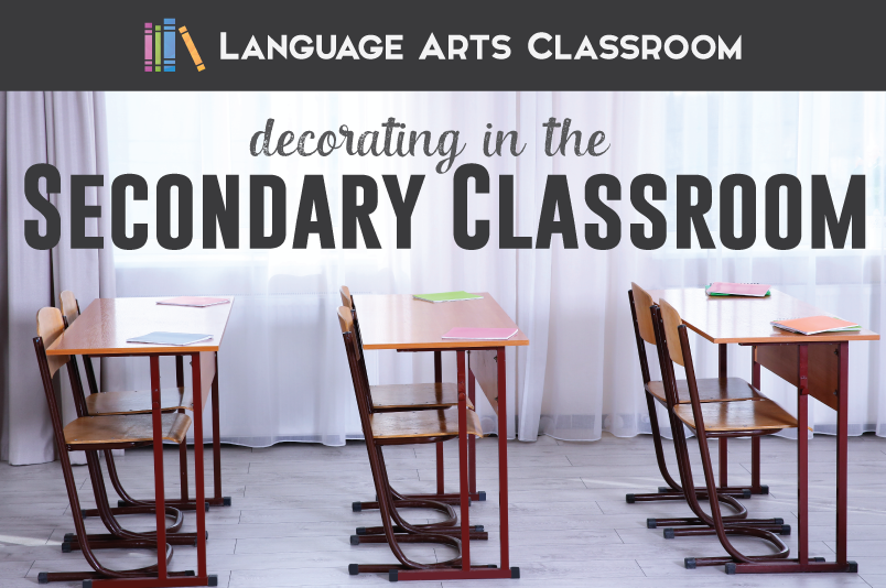 Decorating a secondary classroom can be fun! Look at creative ways of gathering decor and posters and include students along the way.