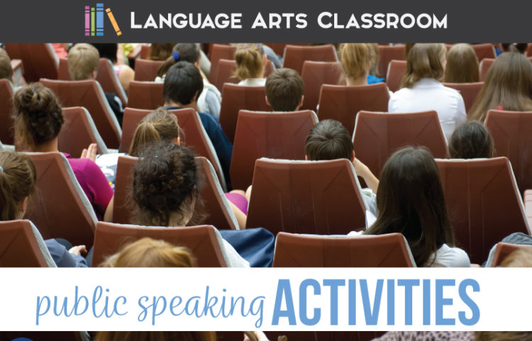 Public speaking activities should engage secondary speakers & create classroom community. These free public speaking activities are in a speech activity PDF. Looking for speech activities for high school students? Try these interactive & scaffolded public speaking lessons for high school language arts classes. Add these speech activites to your high school English classes or public speaking unit.
