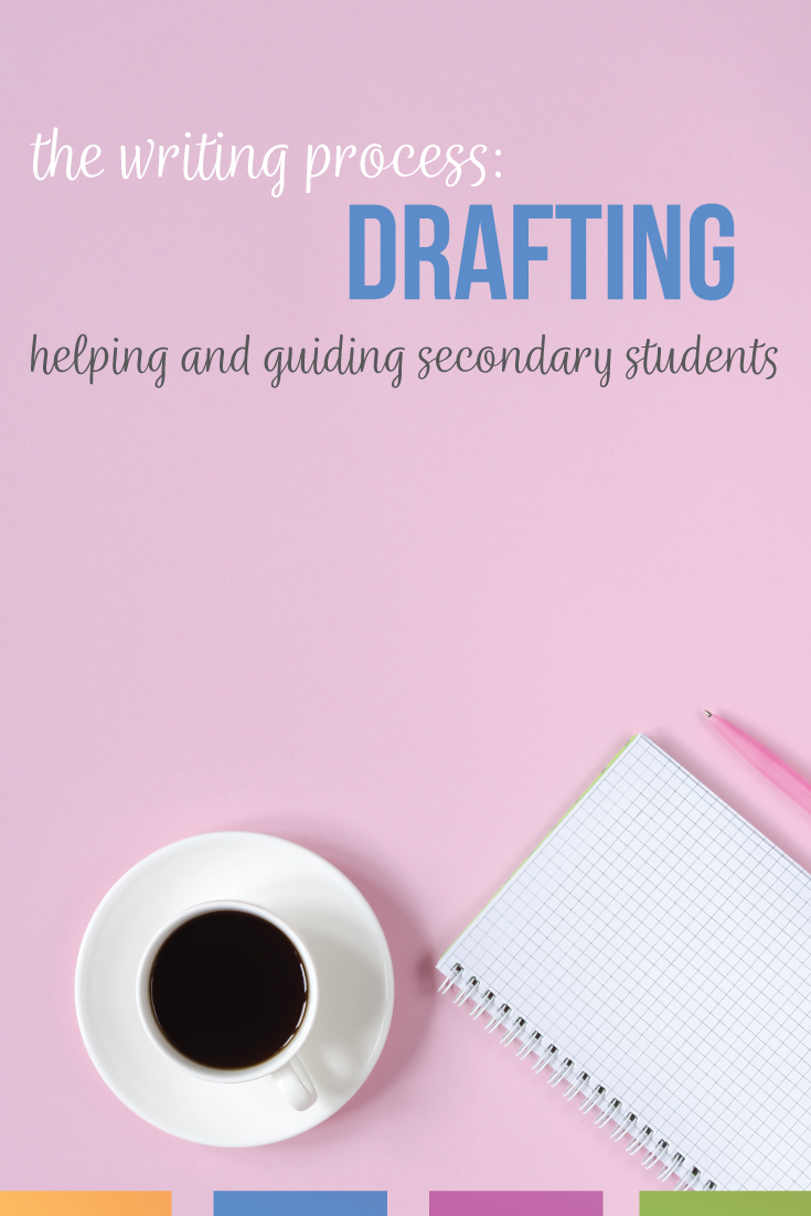 The writing process: middle school English classes and high school English classes study the stages. The drafting stage requires modeling and practice.