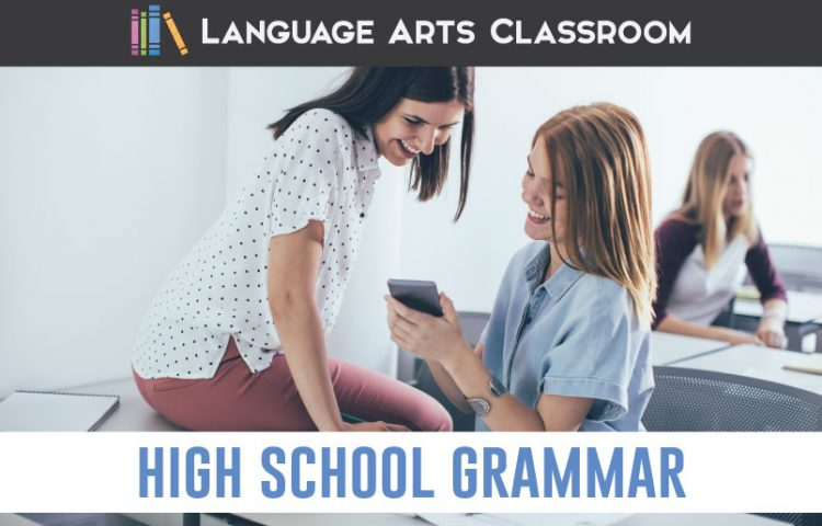 How can you make high school grammar resources effective and meaningful for older students? Included are free videos and tricks for helping students understand their language. #GrammarLessons #HighSchoolELA