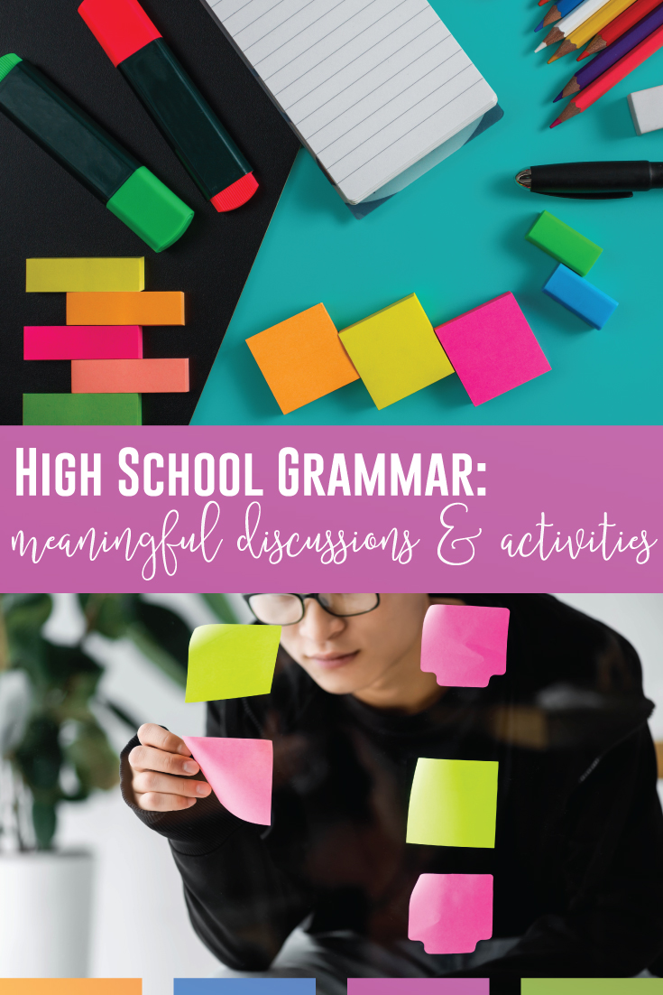 High school grammar resources should engage secondary students, especially while discussing grammar. High school language arts classes should have a working knowledge of the parts of speech, sentence structure, & punctuation. Teach high school grammar with confidence by starting with a grammar diagnostic. Meet language standards with complex grammar resources & grammar discussions. Use high school grammar activities that work on higher order thinking & prepare students for college and careers.