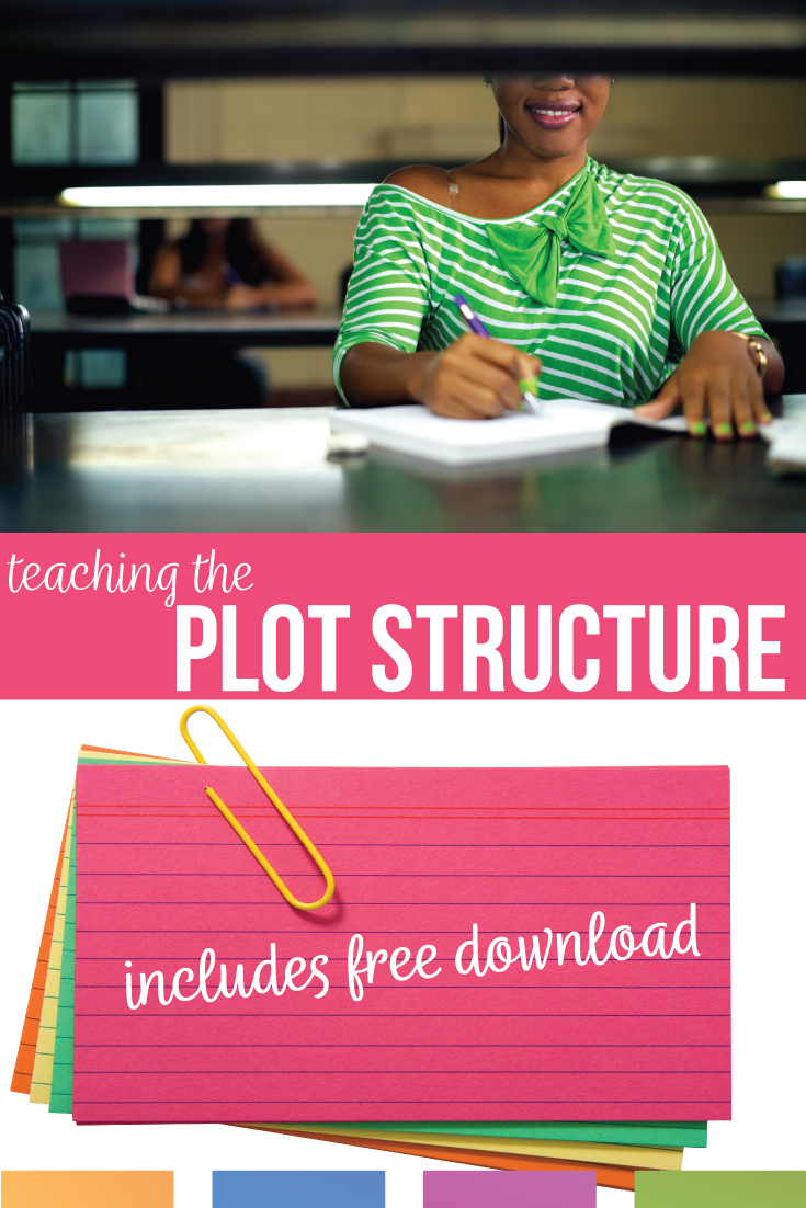 Teaching the plot structure can be engaging and help struggling readers. Teaching plot structure with middle school students can increase their awareness of other literary devices. Short stories to teach plot? Free language arts ideas, specifically plot activities.