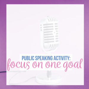 Activities for public speaking can be simple. Add the power of one to your public speaking lesson plans.