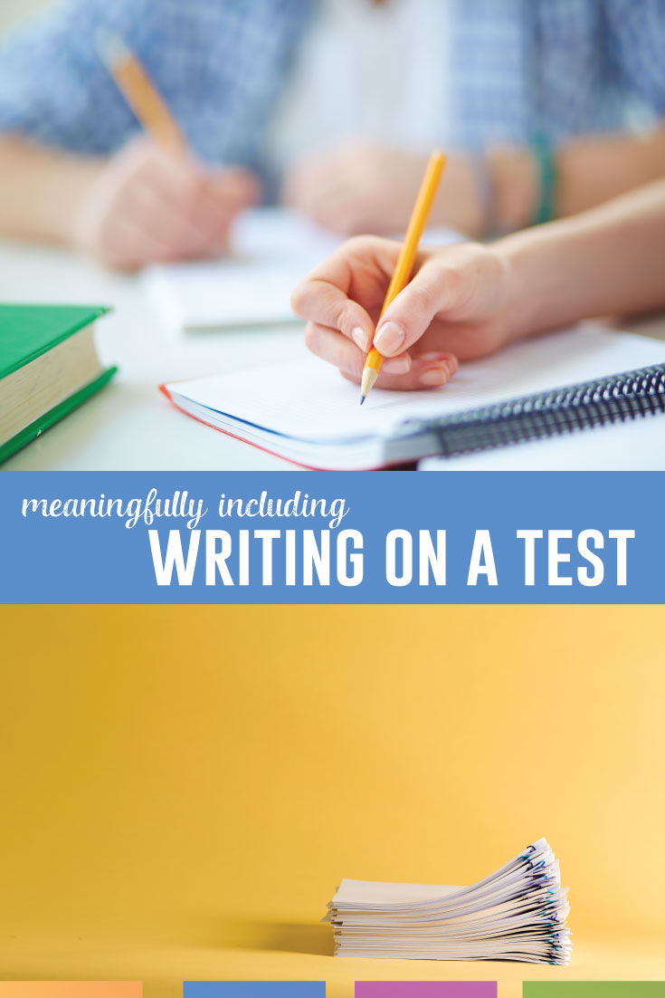 A language arts test probably includes writing. How can you ask students to write during a timed test? What approach will best show what students know? #HighSchoolELA #MiddleSchoolELA