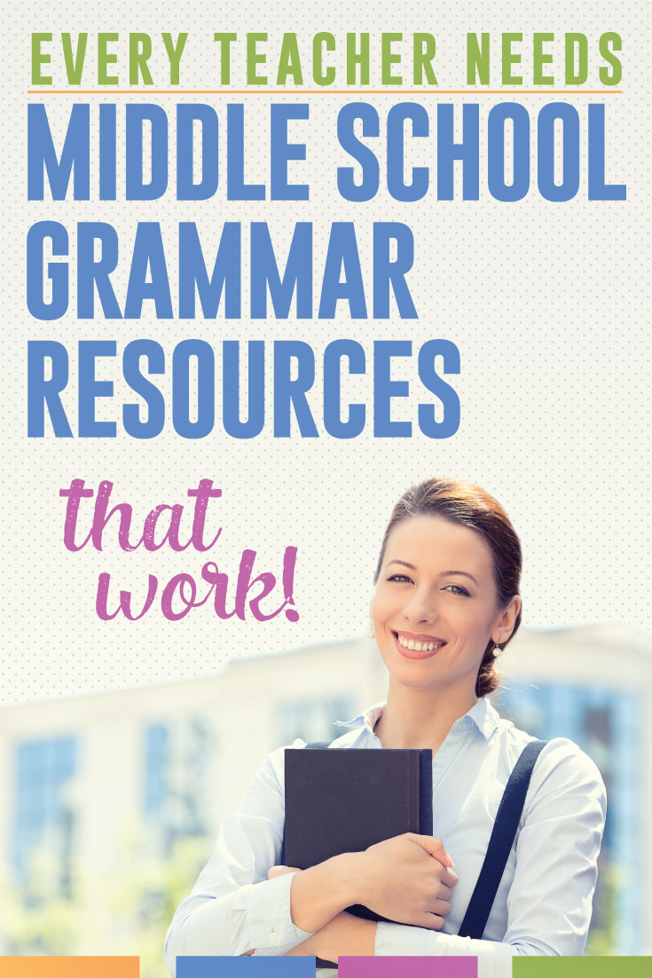 Teaching middle school grammar? You need middle school resources that work - that will engage students.