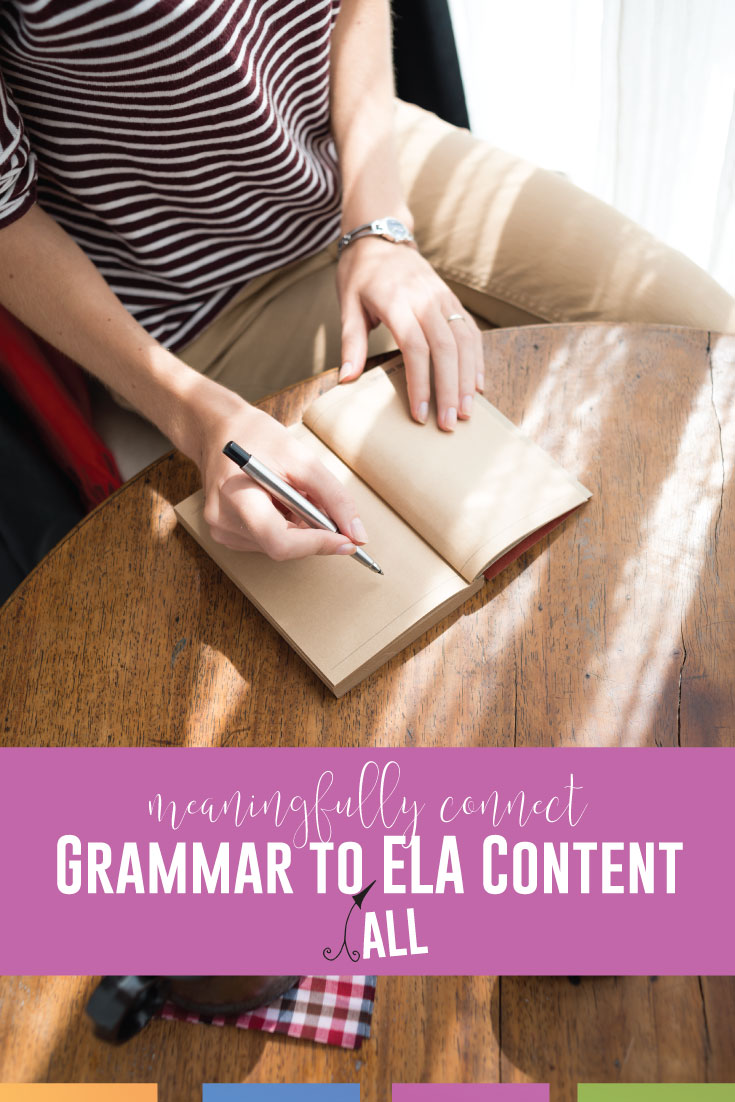Incorporate grammar rules into all parts of a language arts class. How to incorporate grammar into lessons?
