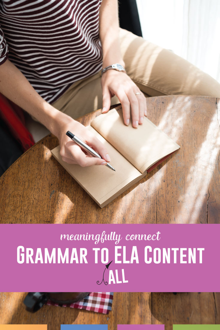 You can make grammar part of everyday language in your ELA classroom. How can you connect grammar to writing and literature? Practical ideas. #HigSchoolELA #GrammarLessons