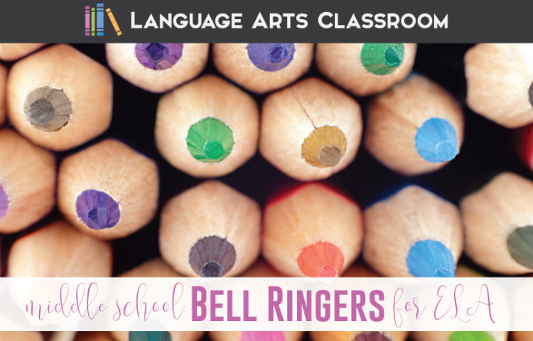 Bell ringers middle school language arts: how can ELA teachers organize middle school bell ringers? One English teacher outlines her ELA bell ringers for middle school.