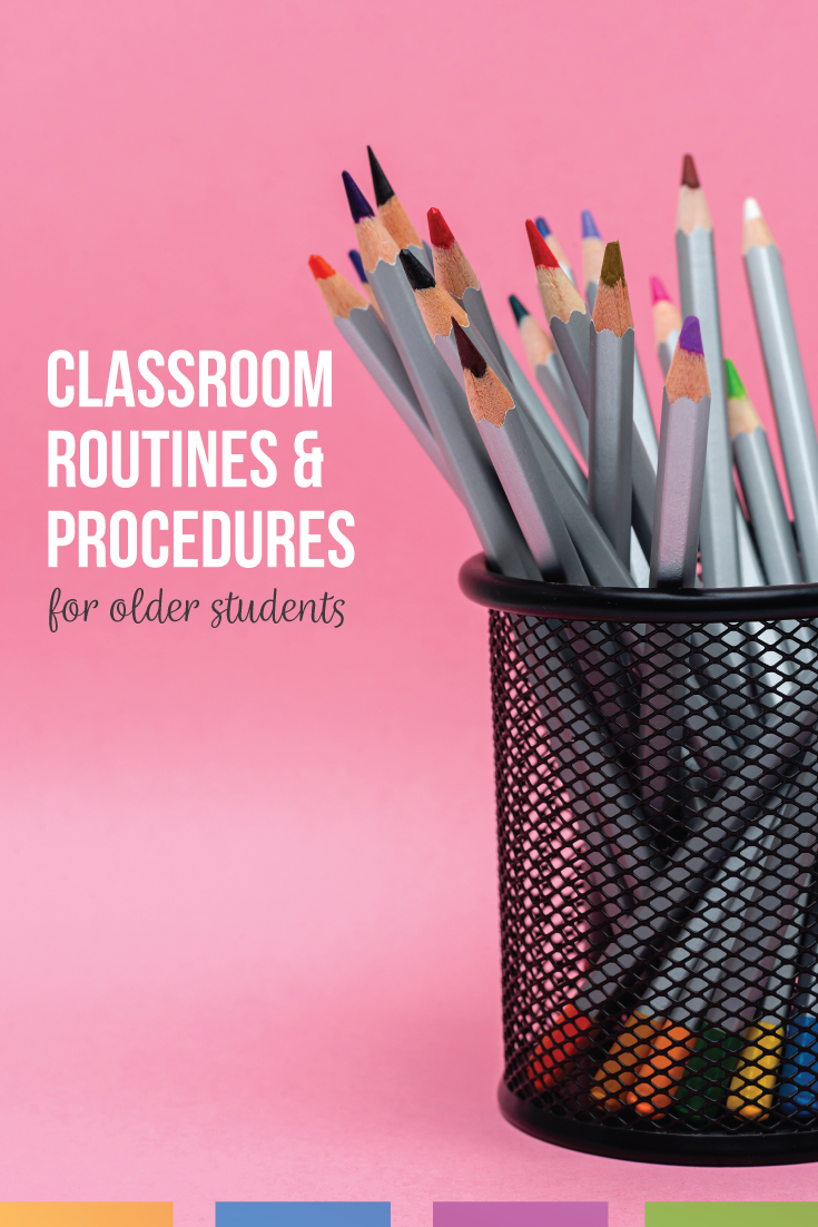 Make meaningful classroom procedures for older students to better classroom management. Build relationships with students by teaching procedures and routines. Classroom procedures and routines for high school can be simple and effective so that students understand what to do each day in class. Teaching classroom routines and procedures does not take long, but teacher and student relationships will grow & students can meet high school standards with basic routines and procedures.