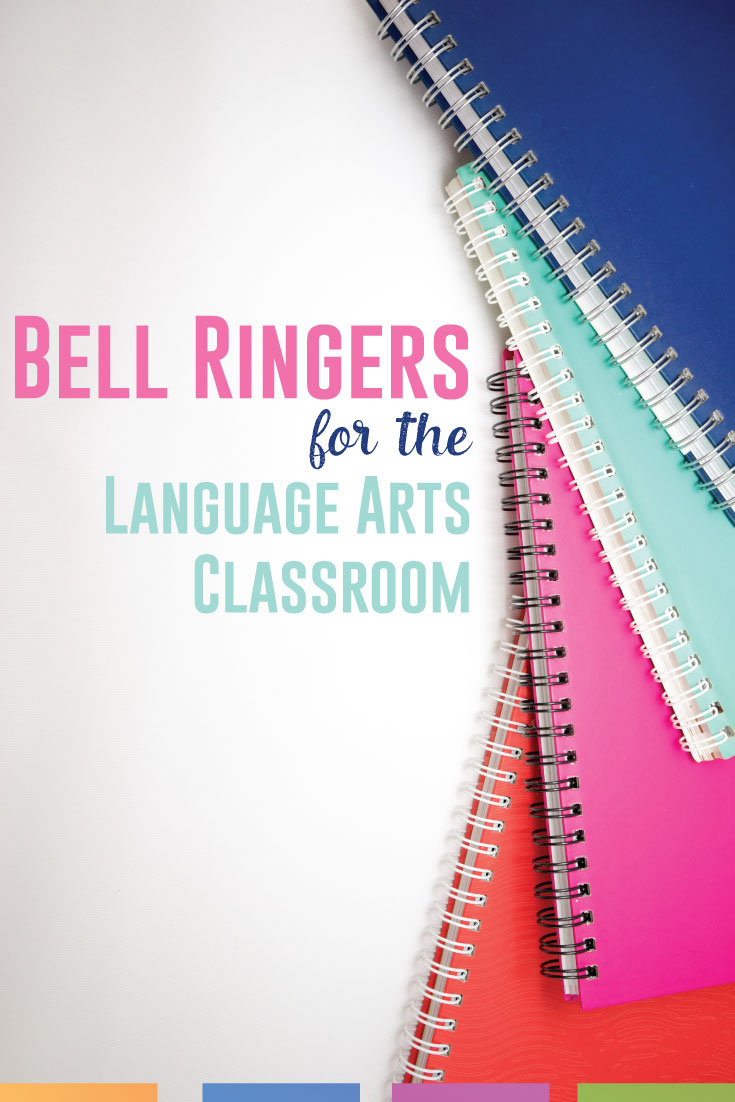Bell ringers: starting class in an organized fashion can be the difference in classroom management. Start your English class with bell ringers. #TaskCards #BellRingers