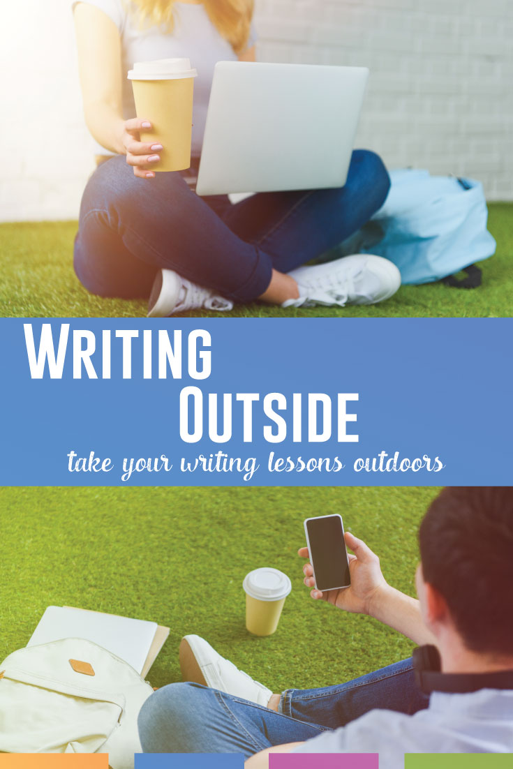Looking for writing activities to take outside? Try these low-stress and fun writing lessons that will get students thinking. #HighSchoolELA