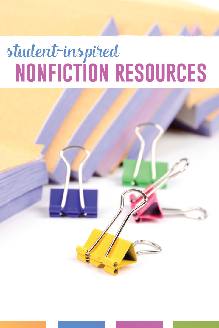 Giving student choice into the nonfiction they study and read. When students help choose their nonfiction, they enjoy writing and discussions. #NonfictionLessons #InformationalTexts