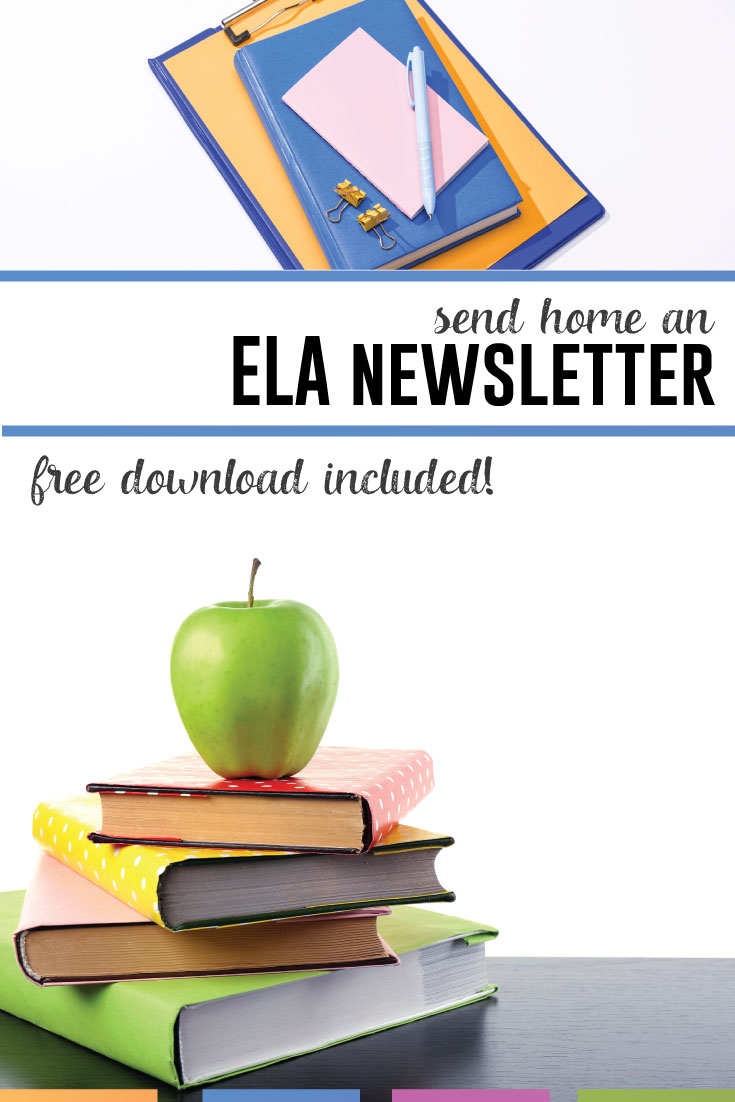 Sending home an ELA newsletter builds relationships with parents and students. Download this editable newsletter. #TeacherNewsletter #ClassroomNewsletter