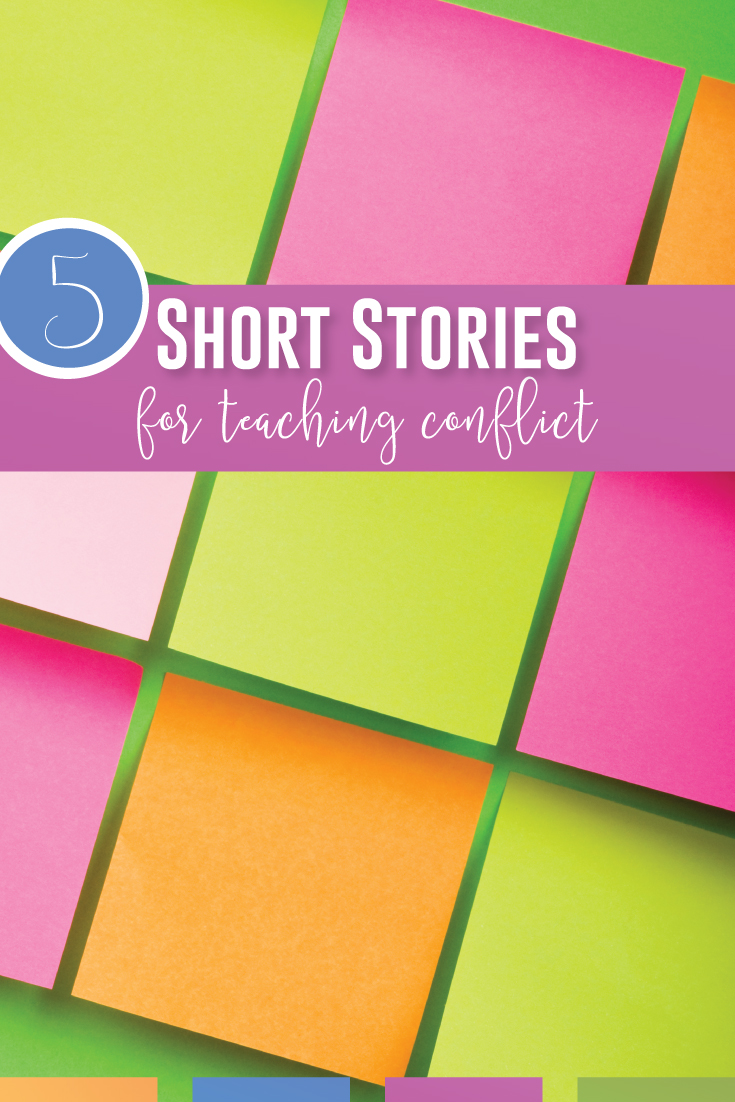 Short stories to teach conflict are available online for free. Use these TEN conflict activities for literary analysis with short stories or any piece of literature in your high school language arts classroom. Meet literature standards while teaching conflict in literature. Confilct activities: download this free PDF for literature activities & add to any novel unit or lit circle activity. Join high school English teachers with conflict activities for literary analysis.