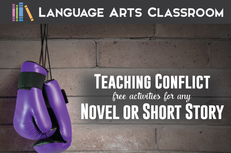 Teaching conflict with a novel or short story? Try these free ideas.