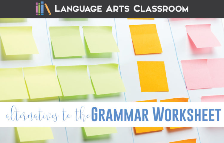 Alternatives to the grammar worksheet can provide fun grammar for high school. Color coded grammar worksheets add interest to grammar stations or independent work.