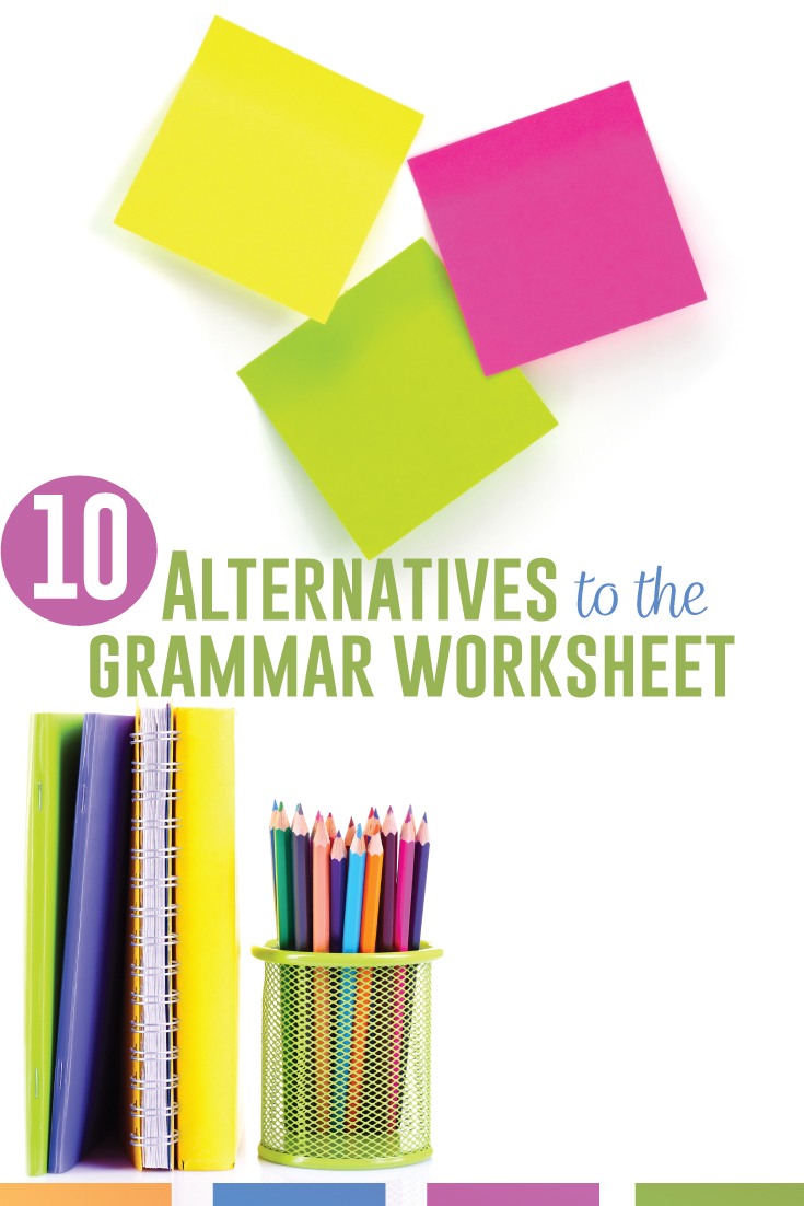 Grammar worksheets provide scaffolded grammar practice for middle school language arts students. Are fun grammar worksheets possible? Alternatives & grammar for high school can include mentor sentences, color coded grammar worksheets, & hands on grammar activities. Grammar review worksheets have their purpose, but give English language arts students interactive grammar activities that will expand their understanding of language & meet language standards.