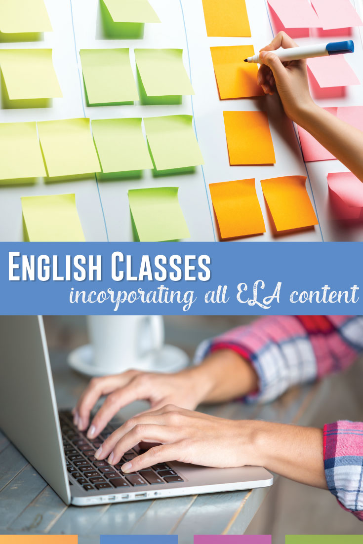 How can an English teacher fit all ELA content into lessons? Meet standards and fit writing, language, and reading together. #HighSchoolELA #EnglishTeacher