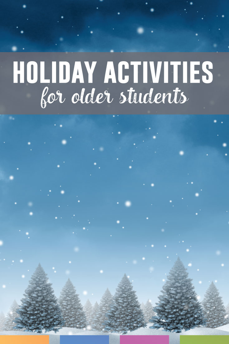 Create meaningful holiday activities during the stressful month of December. Even secondary students get excited! Don't let this affect your classroom management.