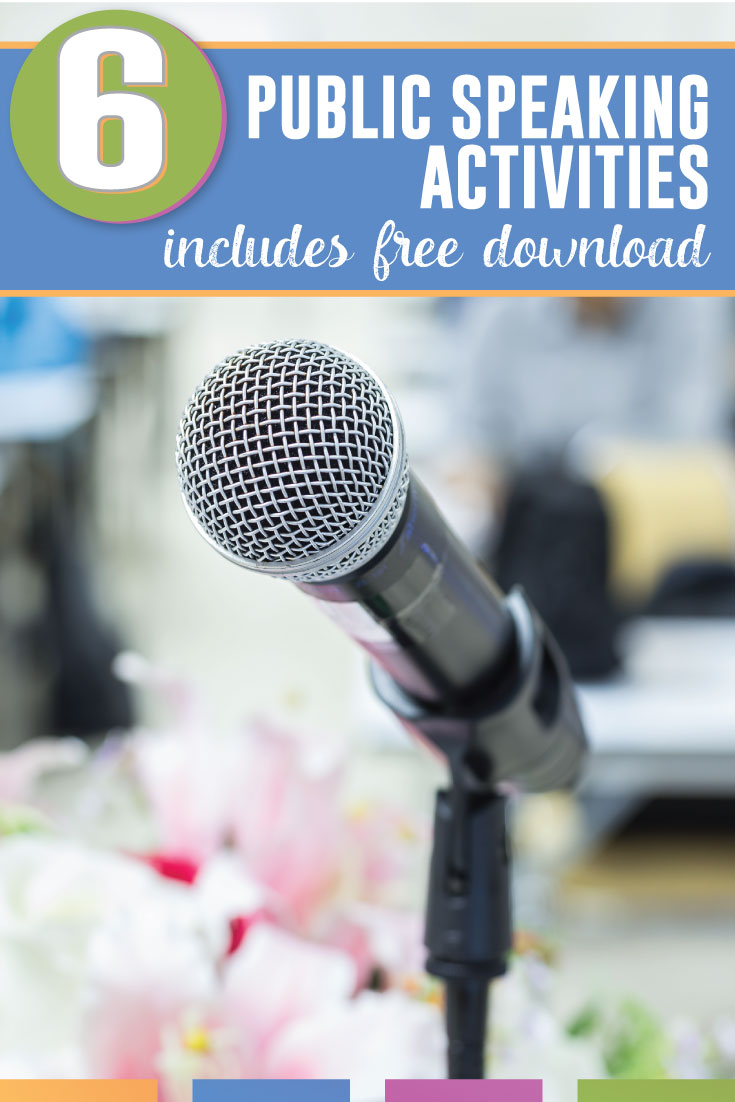 Do you need public speaking activities? Download these six free lessons and get started today. #HighSchoolELA #MiddleSchoolELA
