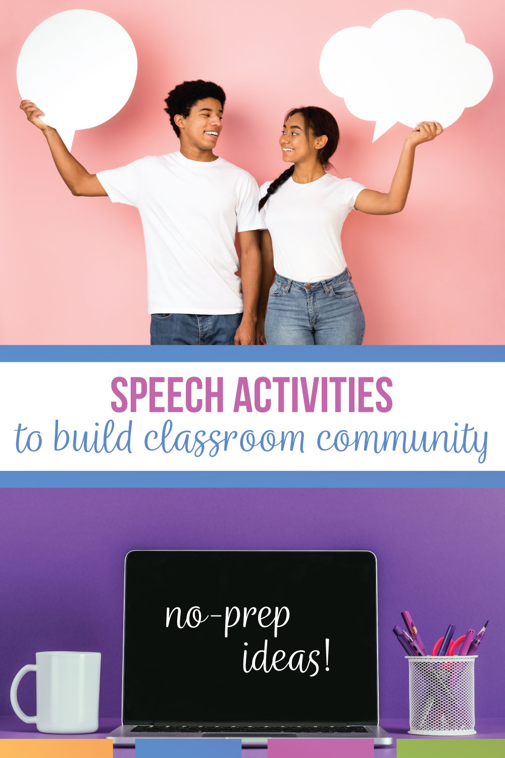 Public speaking lessons can build a classroom community with trust & engaging speech activities. A speaking lesson plan can be simple with no prep for the language arts teacher. Speech lesson plans should provide an opportunity for reflection & growth. Make speech class lessons meaningful with these public speaking ideas.