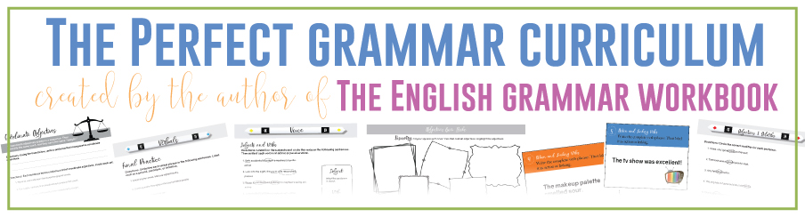 Fun grammar activities included in the perfect grammar curriculum! Grammar activities in classroom help ELA students.