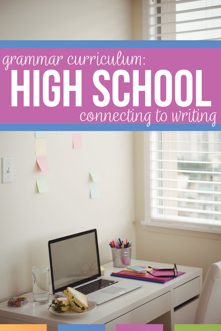What should a high school grammar curriculum look like? Grammar curriculum high school: teach grammar in context while connecting grammar to literature. An Engish grammar curriculum will meet language standards and engage high school English students. Provide grammar activities and grammar lessons to support secondary writers and to elevate student essays. Teach sentence structure, subject verb agreement, punctuation rules, misplaced modifiers, dangling modifiers, & active passive voice.