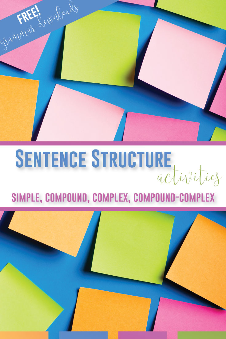 Secondary ELA teachers: How to teach sentence stucture? Connect grammar to writing with these sentence structure activities and free grammar downloads. Teaching sentence structure can benefit young writers because they have new tools to express their ideas. A sentence structure lesson can teach comma use, semicolon rules, and conjunction lessons. Sentence structure activities can be hands on grammar. High school language arts teachers: how to each sentence structure is here!