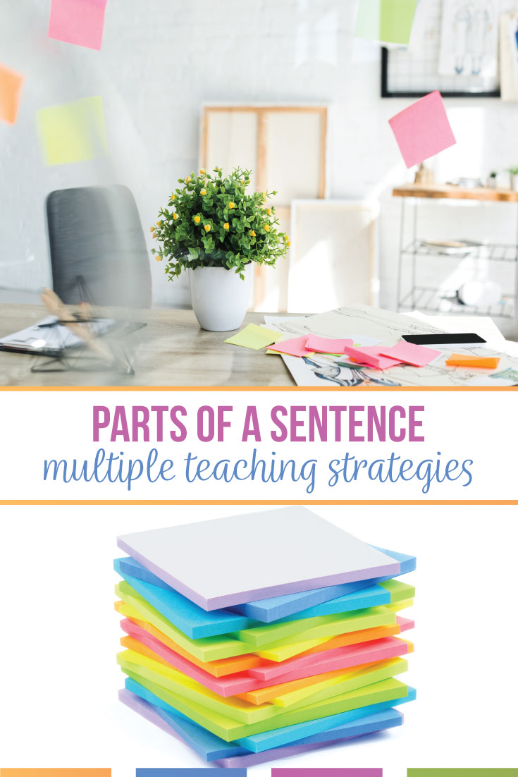 Teaching parts of a sentence is a prerequisite for larger grammar concepts, such as sentence structure. Read some tips on teaching subjects, verbs, and more. #GrammarLessons #MiddleSchoolELA