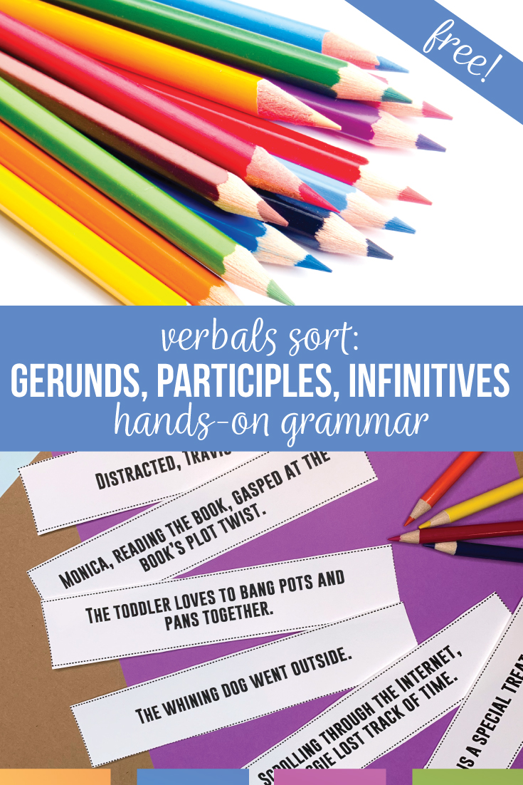Are you teaching gerunds, participles, and infinitives? Download this free verbal activity, a grammar sort. Start conversations with middle school students & meet language standards with this vebal worksheet alternative.