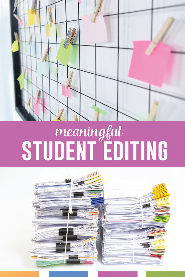 Sometimes I will ask my students to edit their writing, and they don't know what I mean. They think correctly spelled words equate editing. Here's how to get them to work on their papers. #HighSchoolELA #LanguageArts