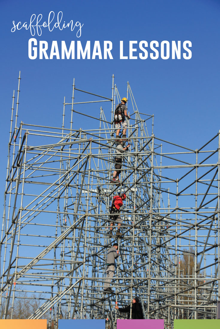 Strategies for teaching grammar in high school must include scaffolding grammar lessons. Scaffolding options for language arts will help writing activities. ELA scaffolding will reach more students, even reluctant writers. As an example, scaffolding sentence structure is provided to walk you through a successful way to scaffold grammar.