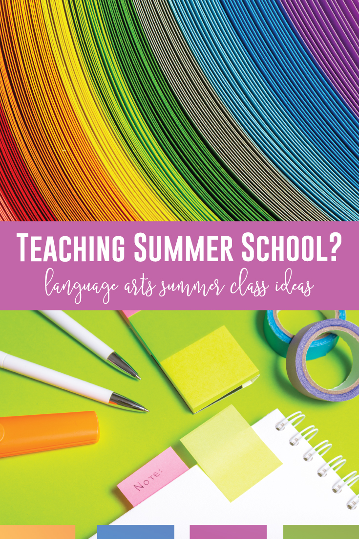 What summer school English curriculum will you follow? Summer school language arts can include fun and engaging ELA activities to reach reluctant readers andwriters. Summer school reading lesson plans can include choice in books and lit circles. Explore engaging language arts activities that summer school students might not see in your ELA classroom. Teaching summer school as an ELA teacher provides opportunities for meeting language standards and writing standards outside the school year.