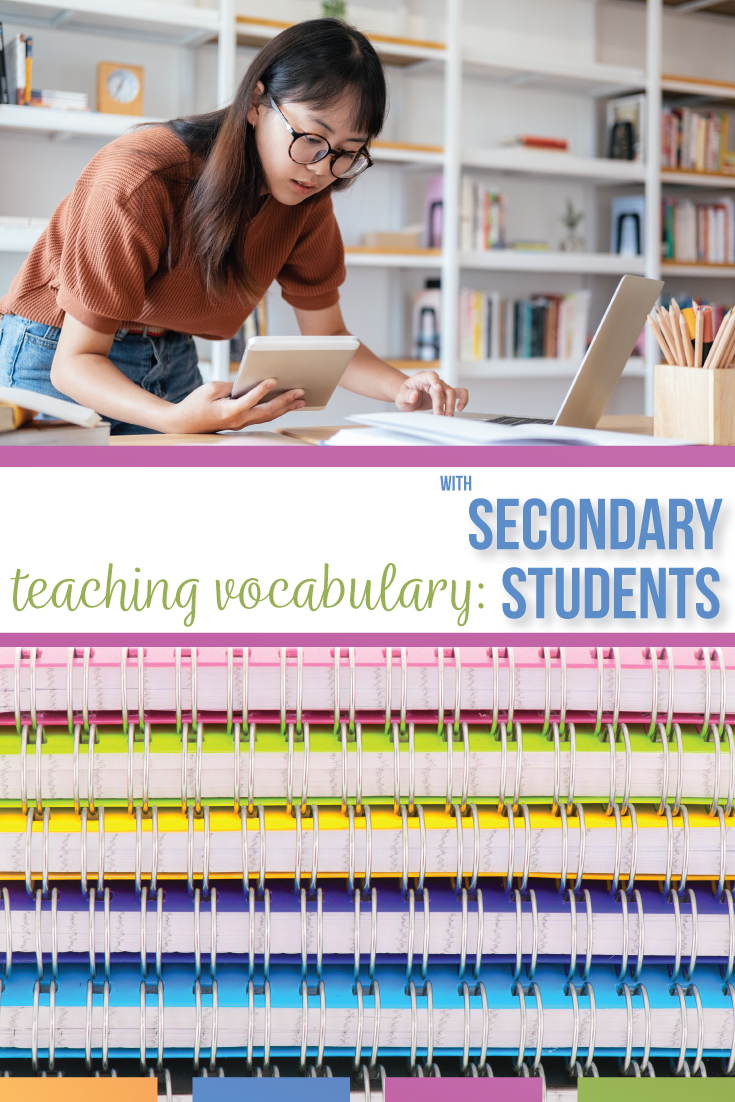 How to create a vocabulary list with meaning? Try these approaches for connecting vocabulary to grammar and literature with secondary students. A vocabulary list for secondary students is included!
