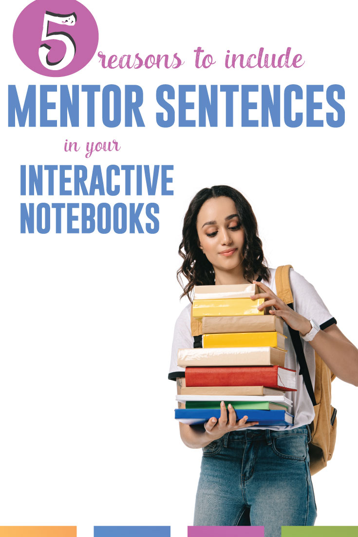 Mentor sentences and interactive notebook pieces - together?! The perfect combination of differentiation and student choice. #MentorSentences #InteractiveNotebooks