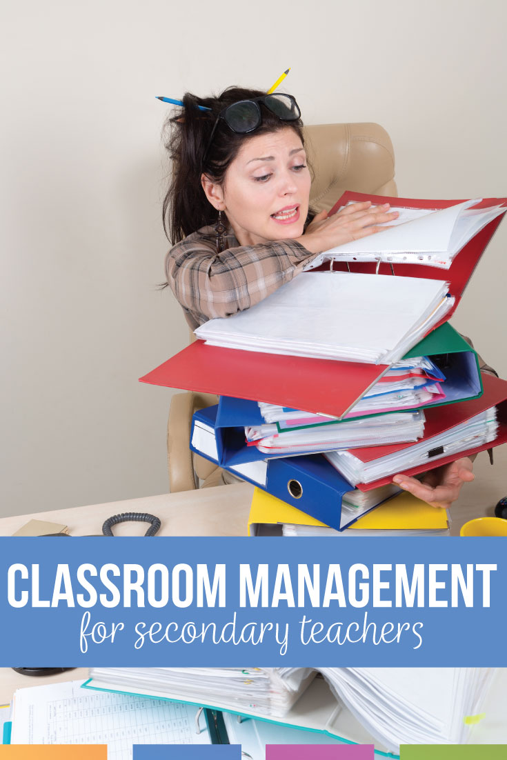 Classroom management for secondary teachers requires organization, clear expectations, & basic routines. Secondary classroom management should be part of every high school teachers' repertoire. Whether secondary teachers wonder about teacher bathroom ideas or late work from students, add procedures & routines to your high school classroom to improve classroom management in high school.