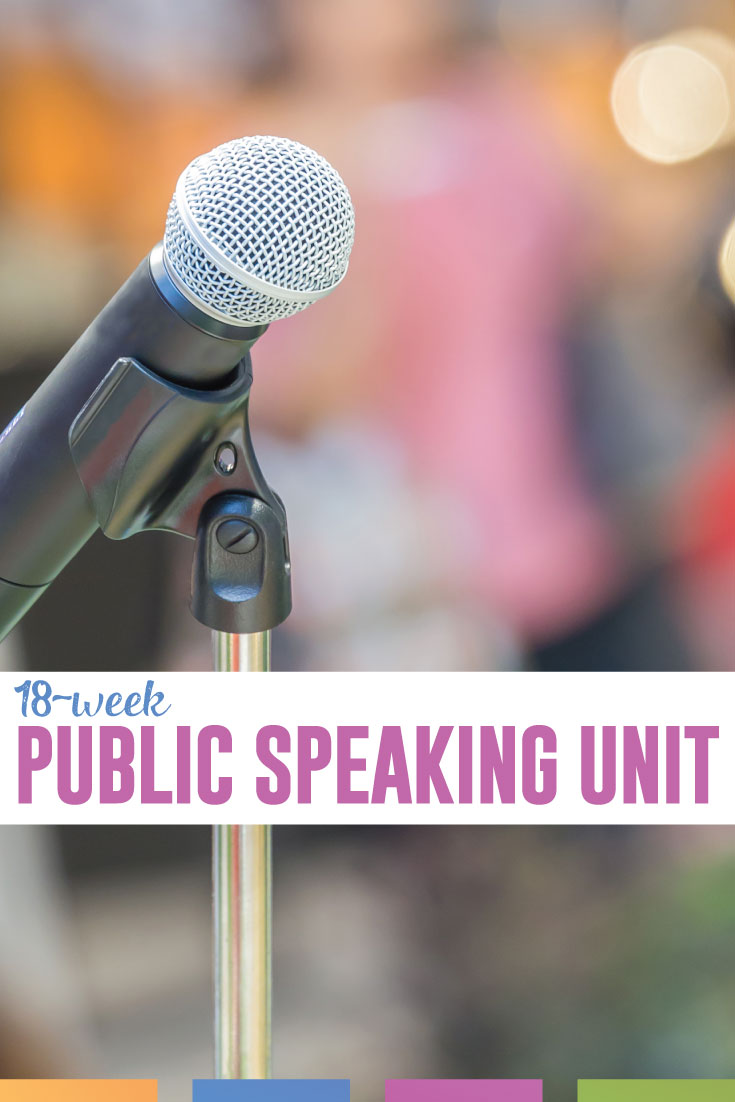 Are you looking for a complete public speaking unit that you can diversify? These activities and assignments will introduce your students to public speaking. Works in any speech unit. #PublicSpeaking #Speech