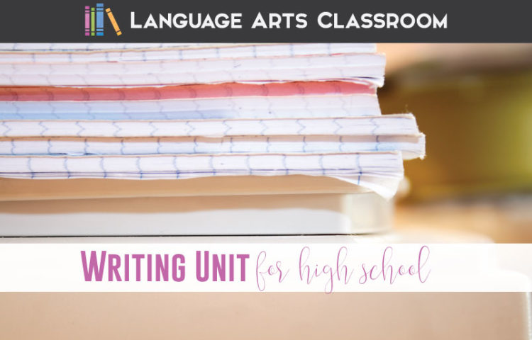 writing unit for high school