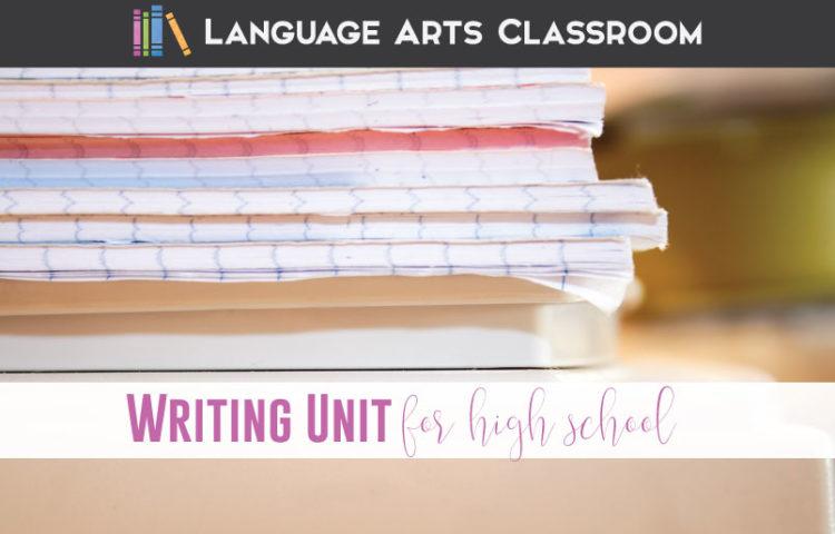 writing unit for high school