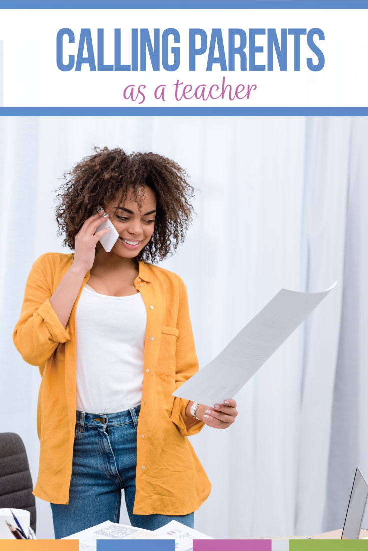 Teachers: make a parent phone call recently? Do you need a teacher - parent phone call script? A parent-teacher phone call can be a helpful part of classroom management and of building relationships in the classroom. Teacher phone calls to parents make be nerve inducing, but overall, they are helpful parts of building classroom routines and procedures and helping students succeed.