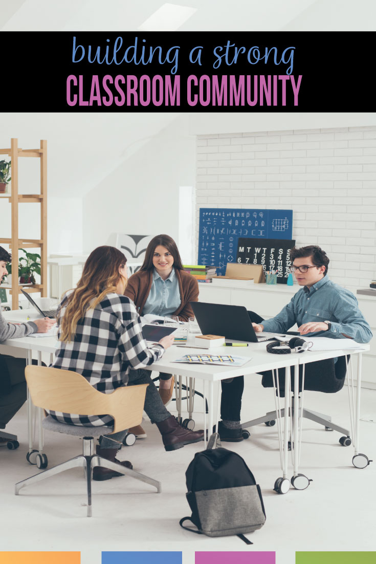 A classroom community can greatly influence lessons & a strong classroom community can improve classroom management. Are you a secondary teacher looking for how to a build classroom community? Building classroom community takes practice & deliberate measures. A positive classroom community will make secondary classrooms places of learning. Improve high school language arts classroom management with a strong classroom community.